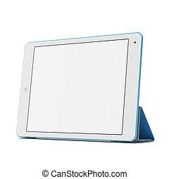 Modern blue tablet pc