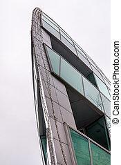 Modern boat design building in Bratislava, Slovakia