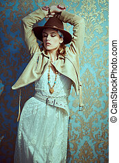modern bohemian style - Modern bohemian style. Portrait of a...