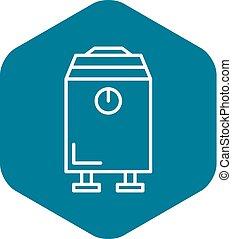 Modern boiler icon. Outline modern boiler vector icon for web design isolated on white background
