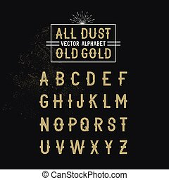 Bold all caps Vector Alphabet text for decoration and effects. Vector illustration.