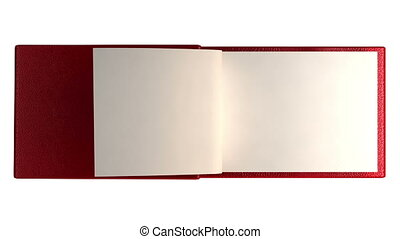Modern book with blank pages isolated