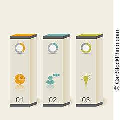Modern boxes in minimal style for design infographic template