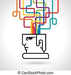 Modern Brain Concept - Illustration