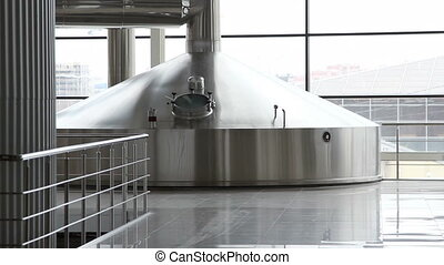 Brewing production - mash vats - Modern Brewing production -...