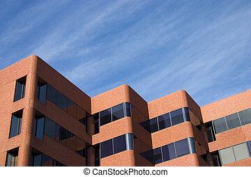 Modern Brick Building - An unusually modern-looking brick...