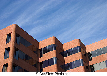 Modern Brick Building - An unusually modern-looking brick...