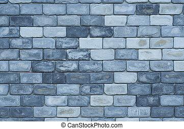 Modern brick wall.