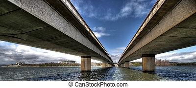 Modern bridge - Image of a modern bridge taken from a ...