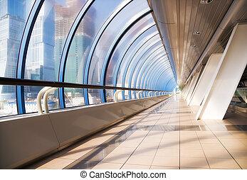 Modern bridge interior