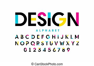 Modern bright colorful font