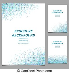 Modern brochure, booklet, cover template design from mosaic ...