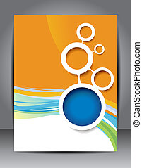 Modern brochure design content background. Design layout template