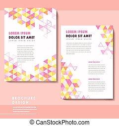 modern brochure template design with triangle elements in...