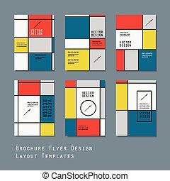 modern brochure template design set