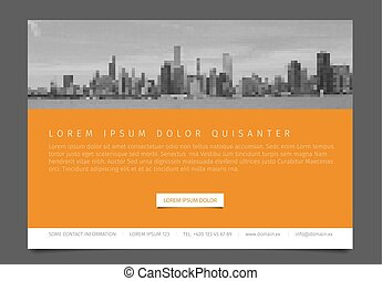 Modern brochure template flyer design vector template -...