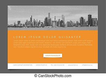 Modern brochure template flyer design vector template -...