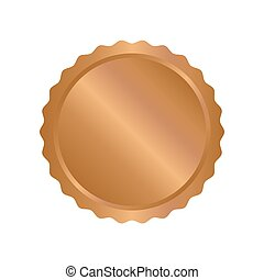 Modern bronze circle metal badges, labels and design...