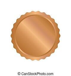 Modern bronze circle metal badges, labels and design...