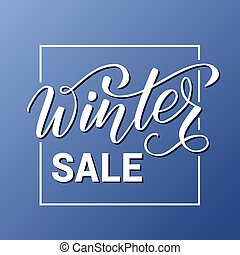 Modern brush calligraphy Winter sale - Handwritten brush...