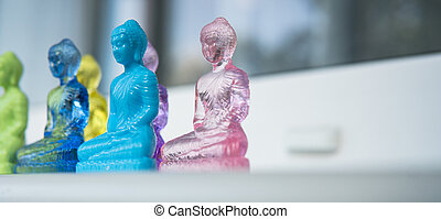 modern  buddha close-up. World religions