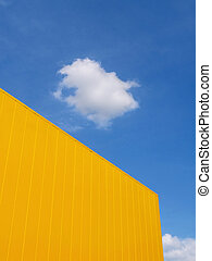 Modern building and sky