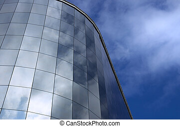 modern building and sky reflection - corporation building