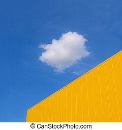 Modern building and sky with cloud