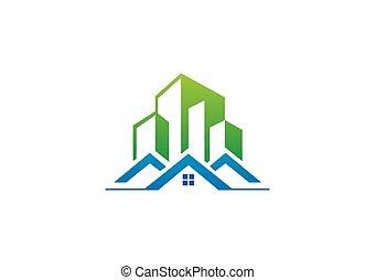 modern building apartment house vector logo