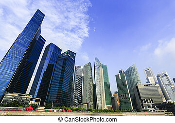 Modern building business architecture of Singapore