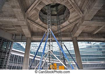 Modern building construction yard