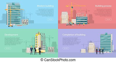 Modern Building. Development. Building Process. - Modern...