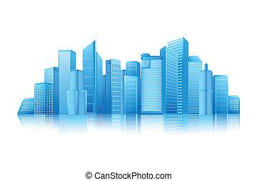 Modern Building - easy to edit vector illustration of modern...