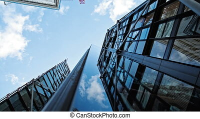 Modern building exterior - Modern building with a glass...
