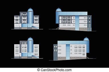 Modern building, facade