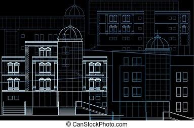 Modern building-facade