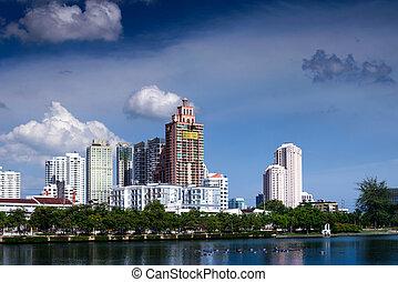 Modern building in Bangkok, Thailand.