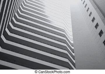 Modern building in blur concept.