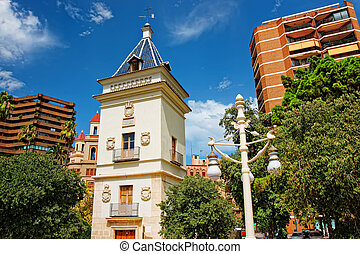 Modern building in city center of Valencia