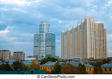 Modern building in Moscow