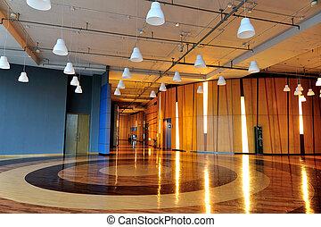 Modern building interior - Modern office building interior, ...