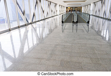 Modern building interior. Wide angle view.