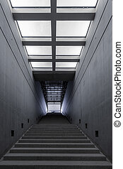 Modern building interior with stairs