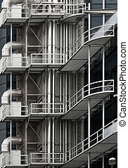 Modern building metal architecture