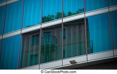 Modern building mirror glass wall