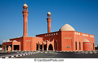 Modern Building of a Mosque in Kuwait