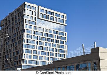 Modern building of hotel