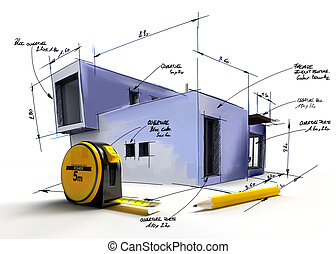 Modern building project