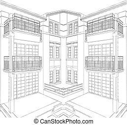 Modern Building Residential House
