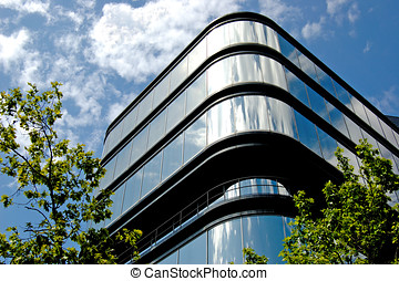 Modern building steel and glass